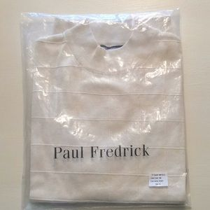 Paul Fredrick Men's 100% Silk Pullover Short Sleev